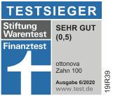 ottonva Siegel Zahnzusatzversicherung Testsieger Stiftung Warentest